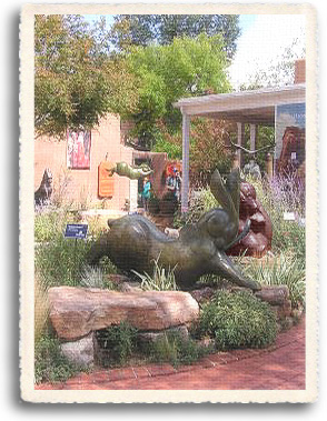 The whole world is an art gallery on Santa Fe's Canyon Road, where front yards are sculpture gardens and 200 year old homes are art galleries